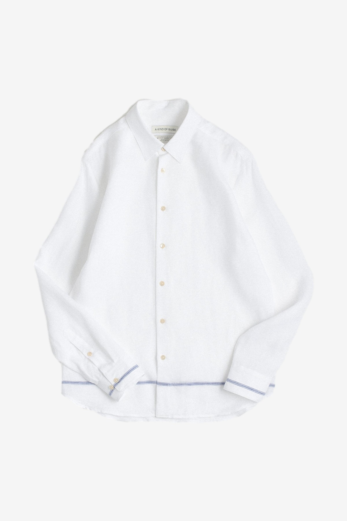 A Kind of Guise Flores Shirt in White Taverna