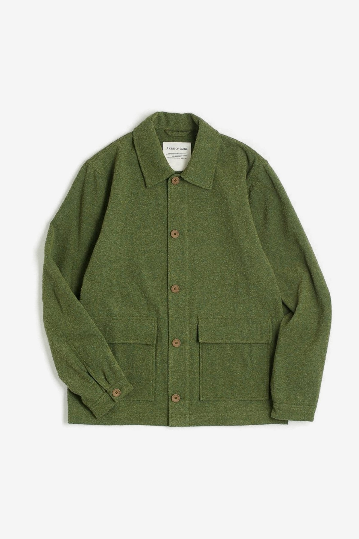 A Kind of Guise Jakarta Jacket in French Terry Green