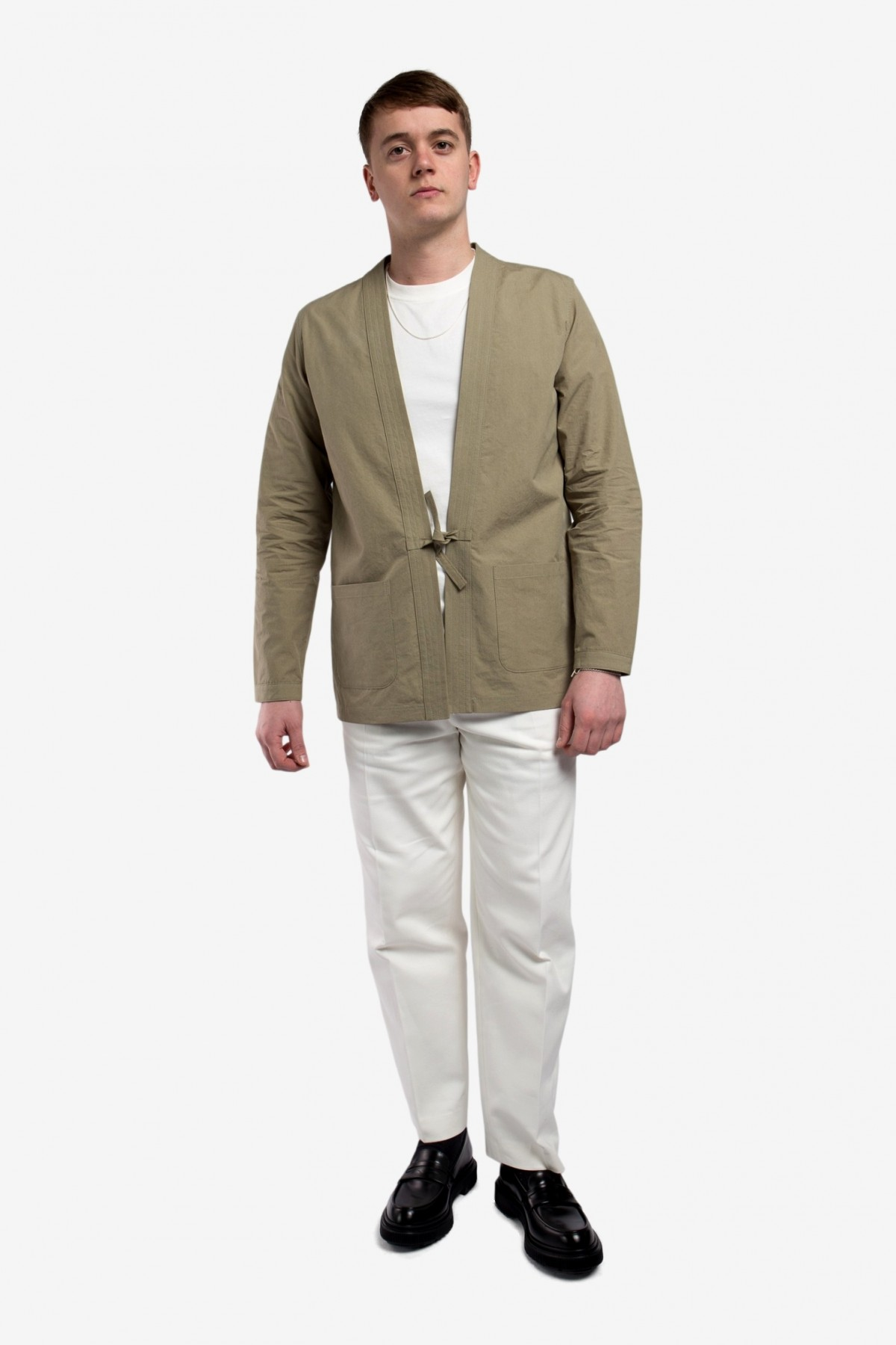 A Kind of Guise Kohaku Cardigan in Washed Olive