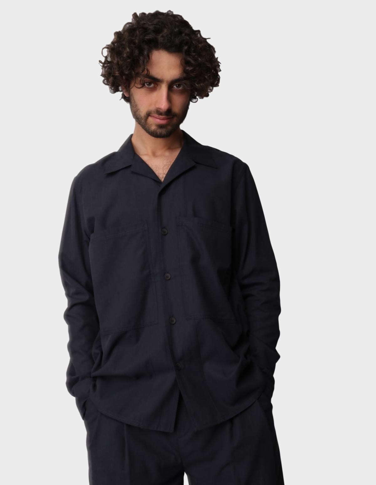A Kind of Guise Fante Shirt in Deep Navy