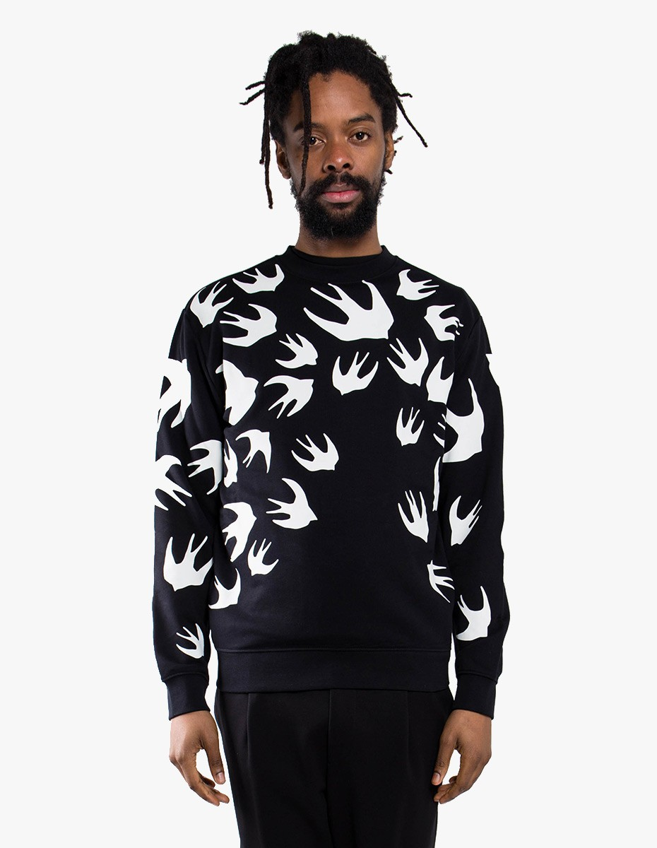 McQ Alexander McQueen Swallow Sweatshirt in Black