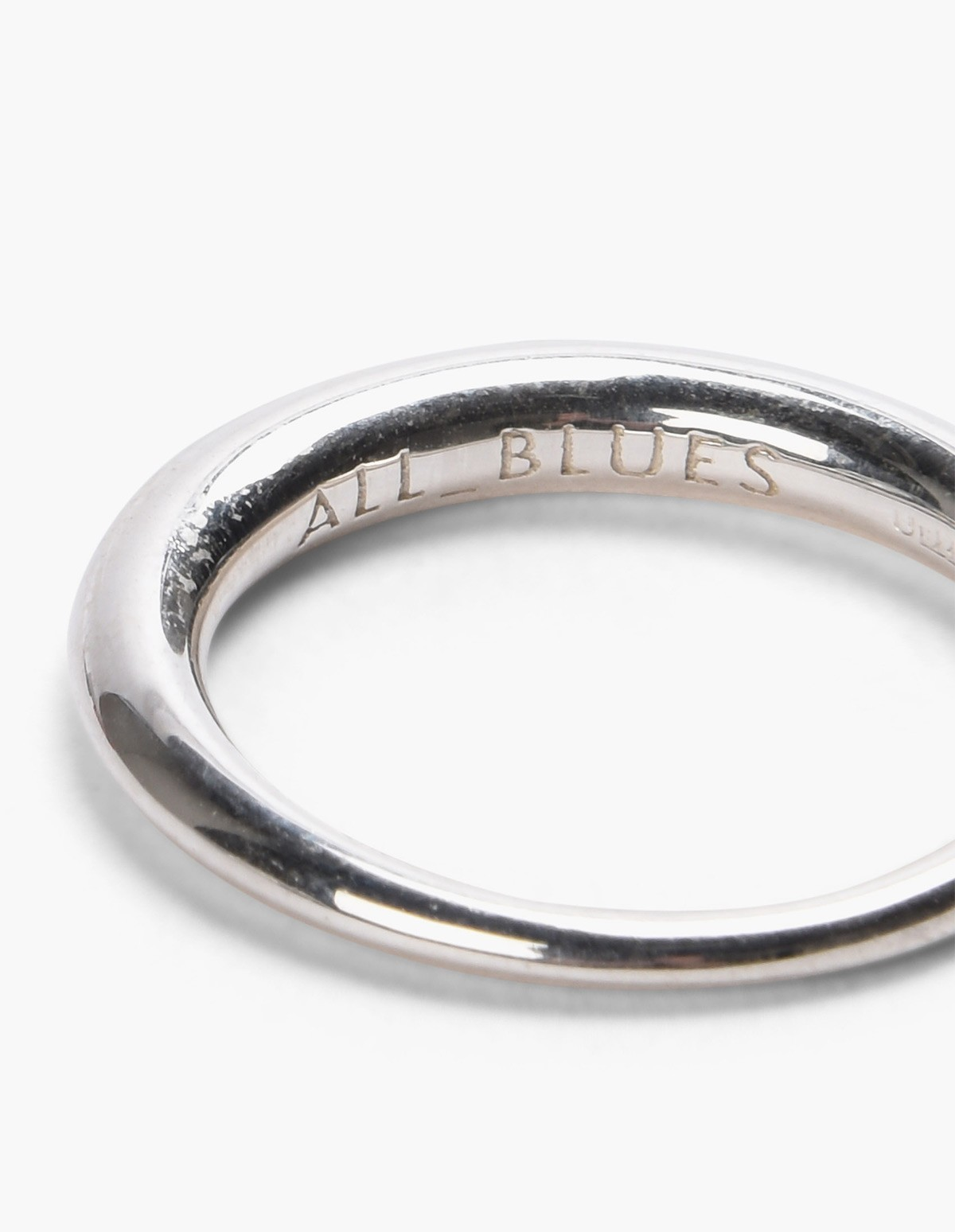 All Blues  Hungry Snake Ring - Polished Silver  in Silver