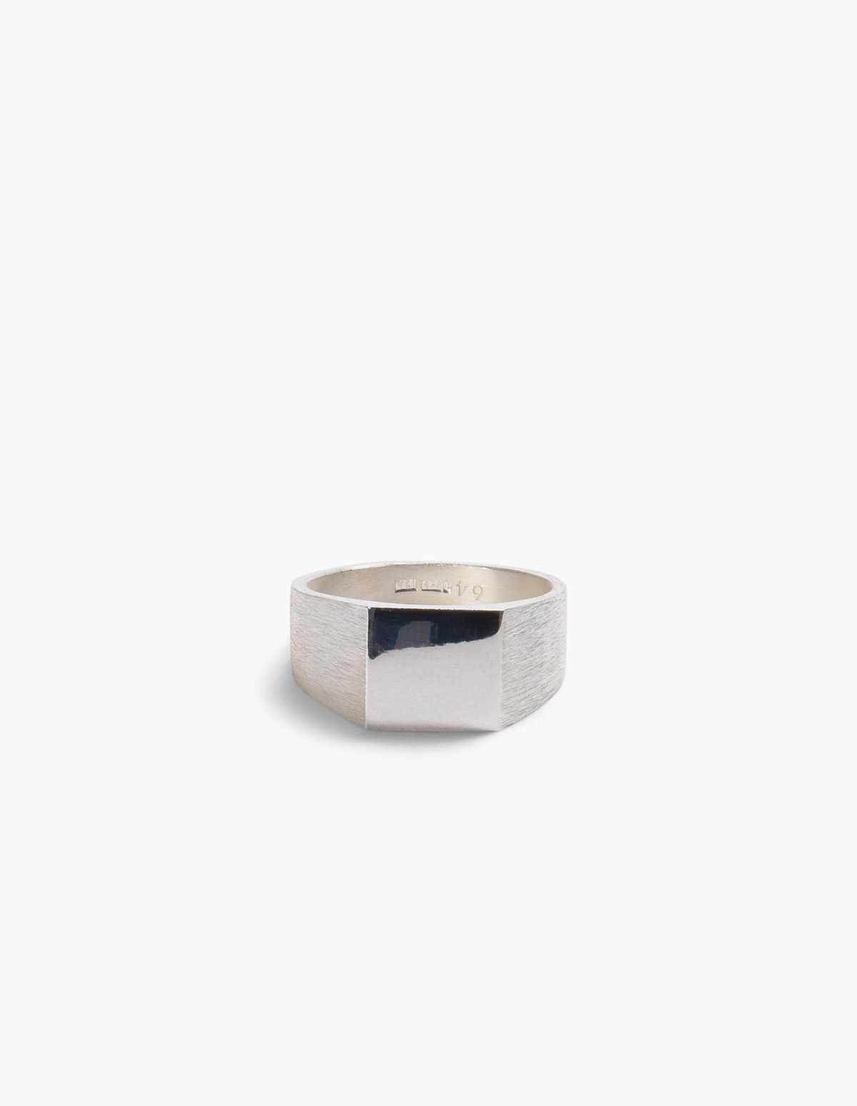 All Blues  Platform Ring in Polished & Brushed Silver