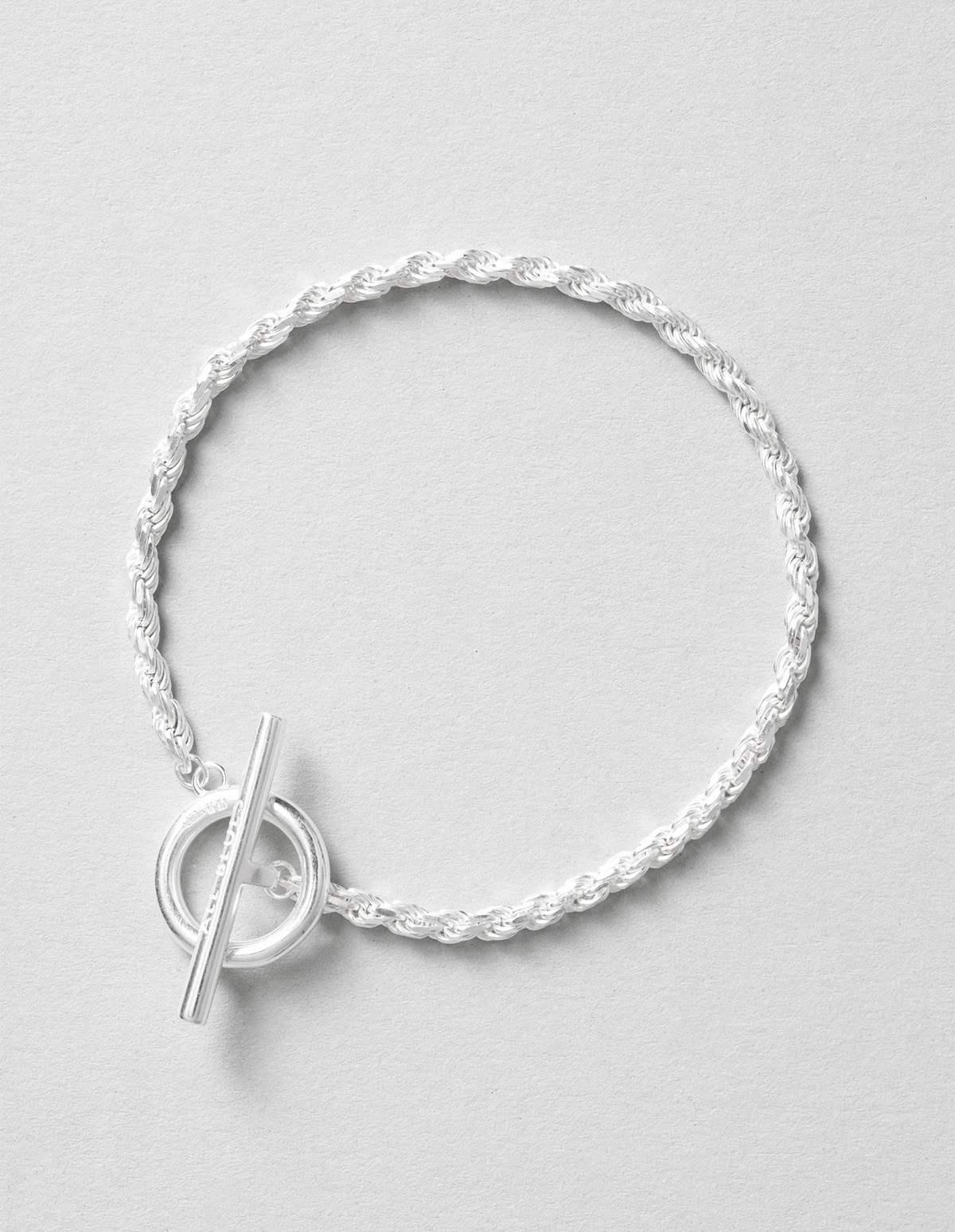 All Blues  Rope Bracelet - Polished Silver  in Silver