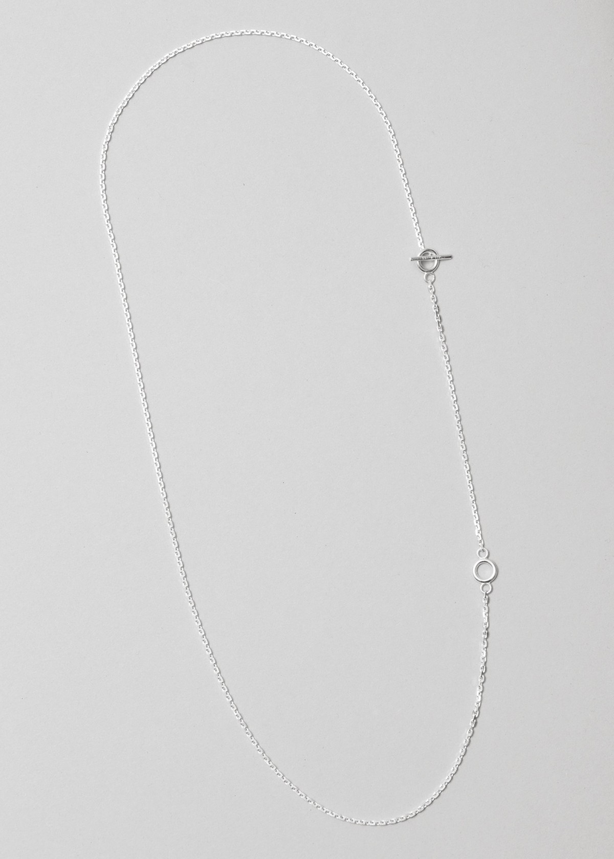All Blues  String Necklace in Polished Silver