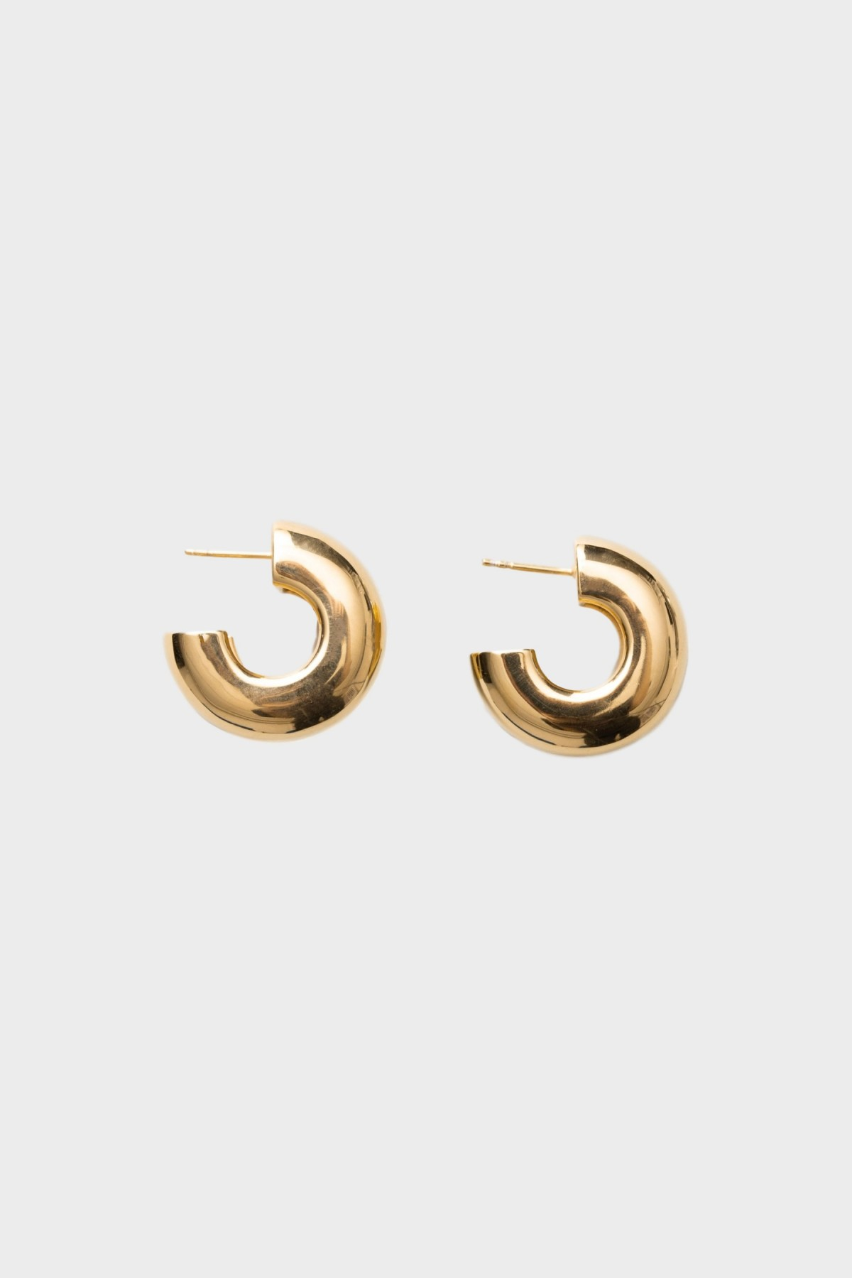 All Blues  Tire Earrings in Polished Gold Vermeil