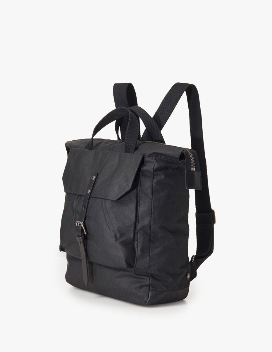 Ally Capellino Frances Waxy Small Rucksack in Black