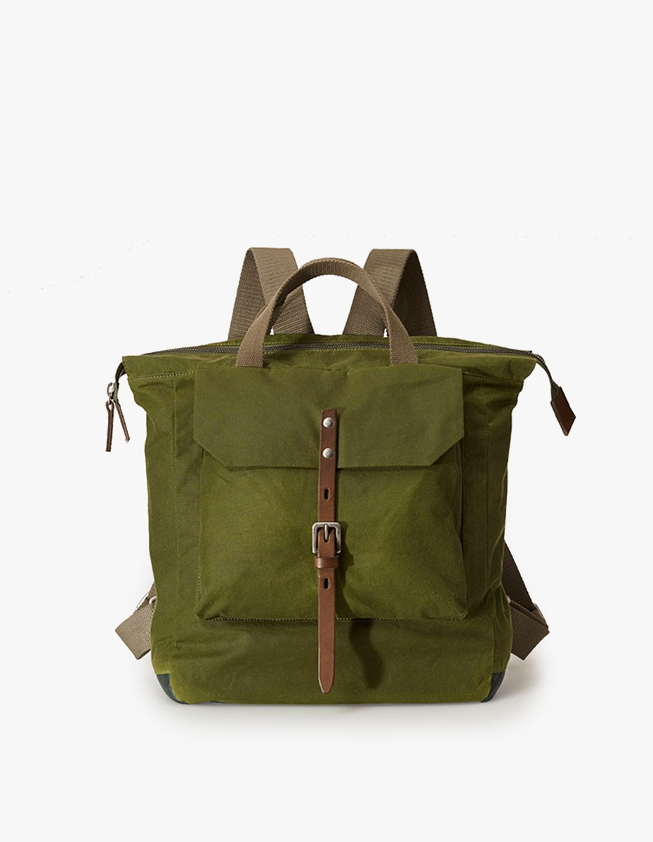 Ally Capellino Frances Waxy Small Rucksack in Green