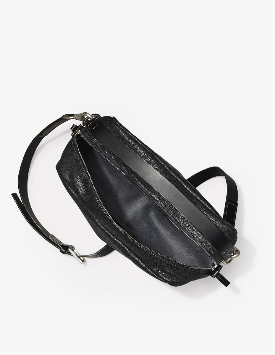 Ally Capellino Leila Medium Leather Cross Body  in Black