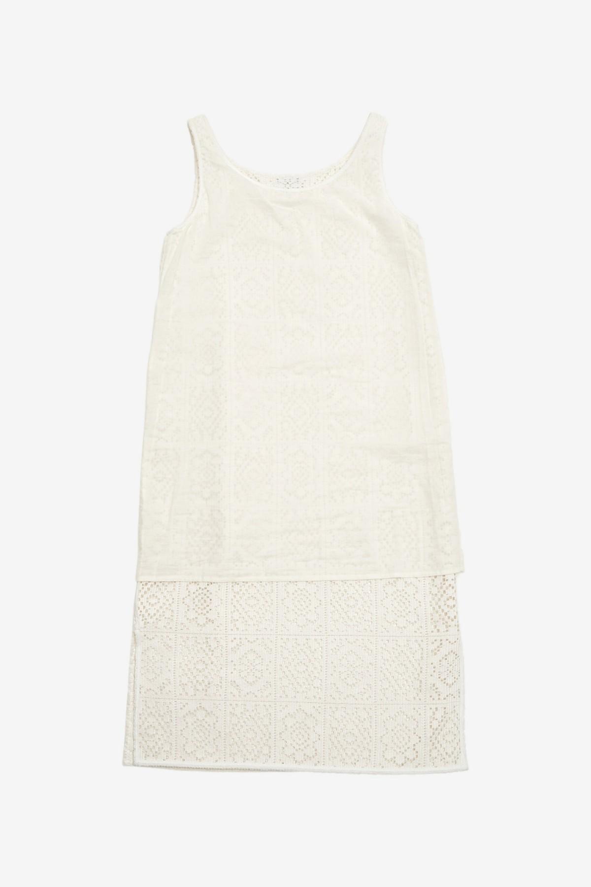 Amomento Crochet Dress in Ivory