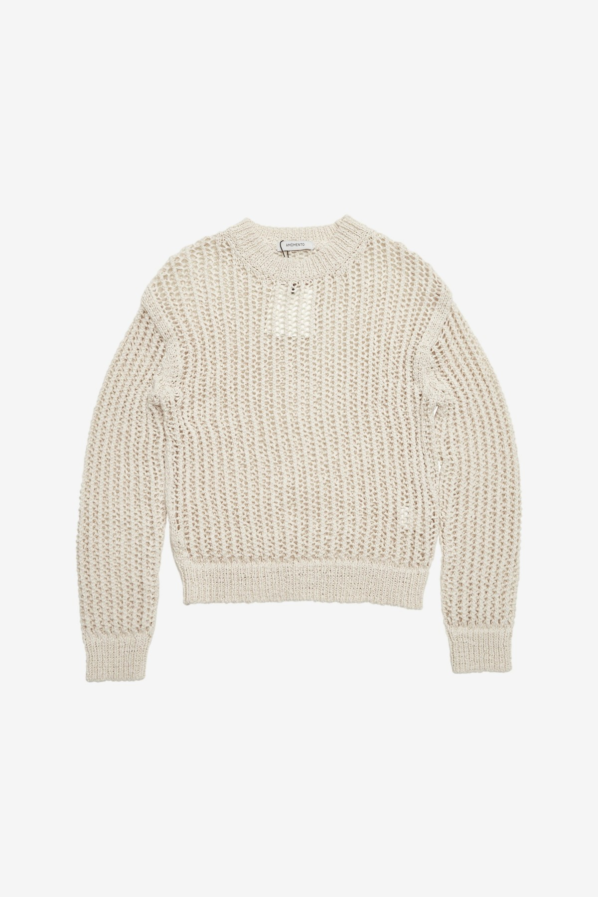 Amomento Crochet Pullover in Ivory