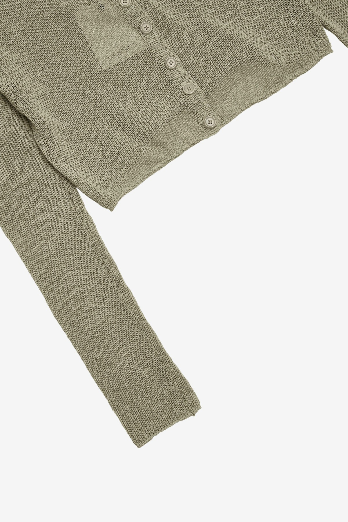 Amomento Natural Linen Cardigan in Olive