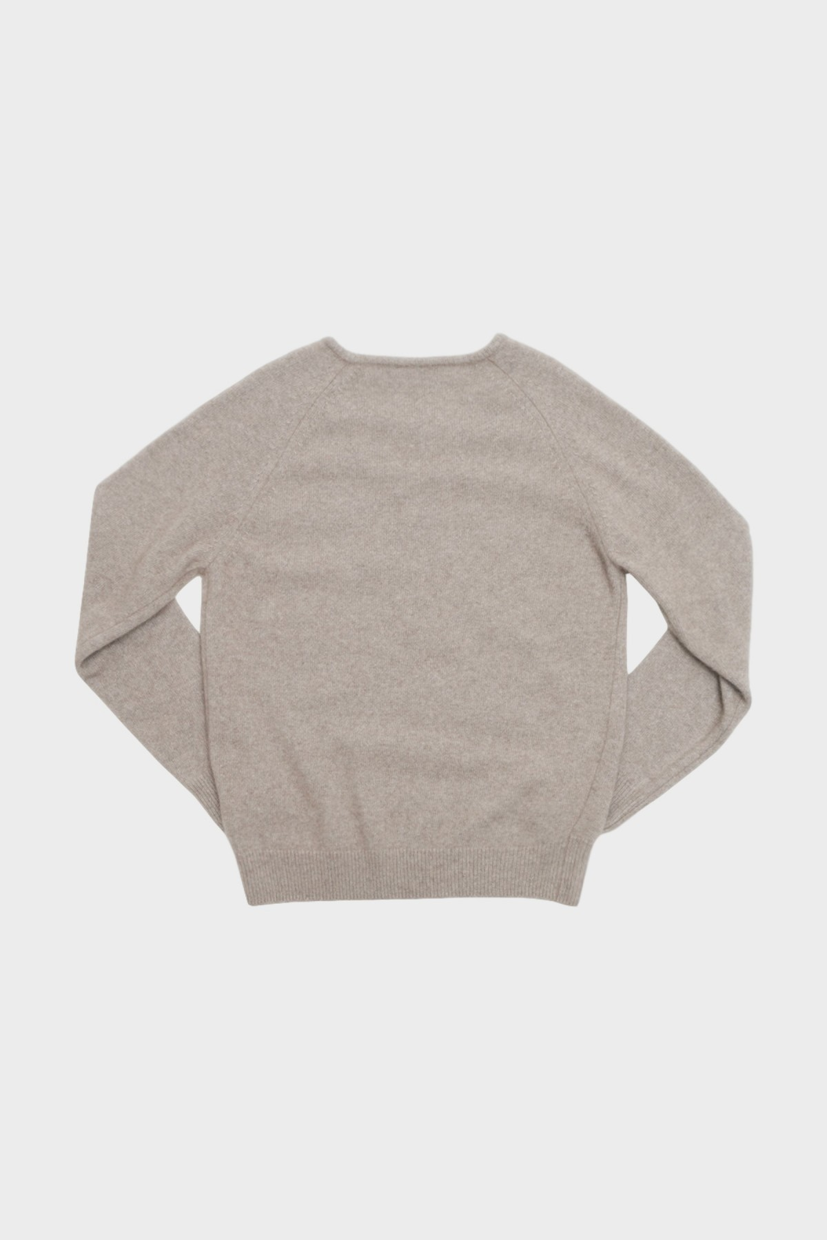Amomento Racoon V-Neck Knit in Beige