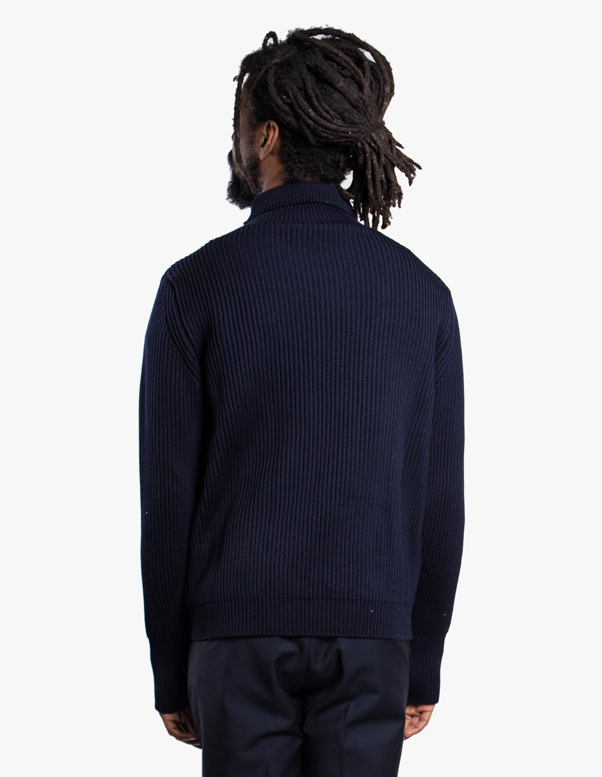 Andersen-Andersen Navy Turtleneck Symmetrical in Navy Blue