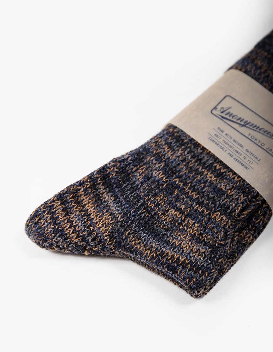 Anonymous Ism 5 Colour Mix Socks in Charcoal