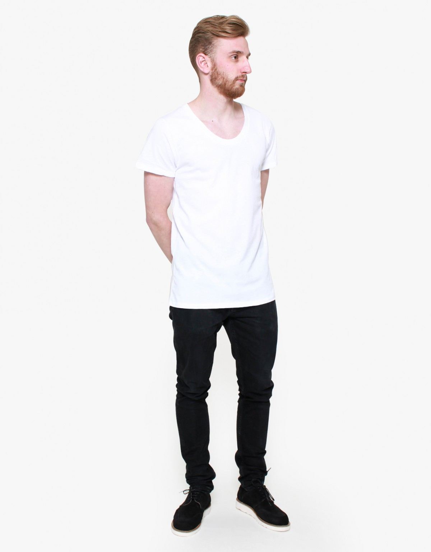 AO CMS Lightweight Scoop-Neck T-Shirt in White