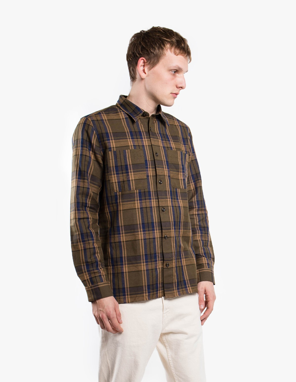 A.P.C. Chemise Achille in Camel