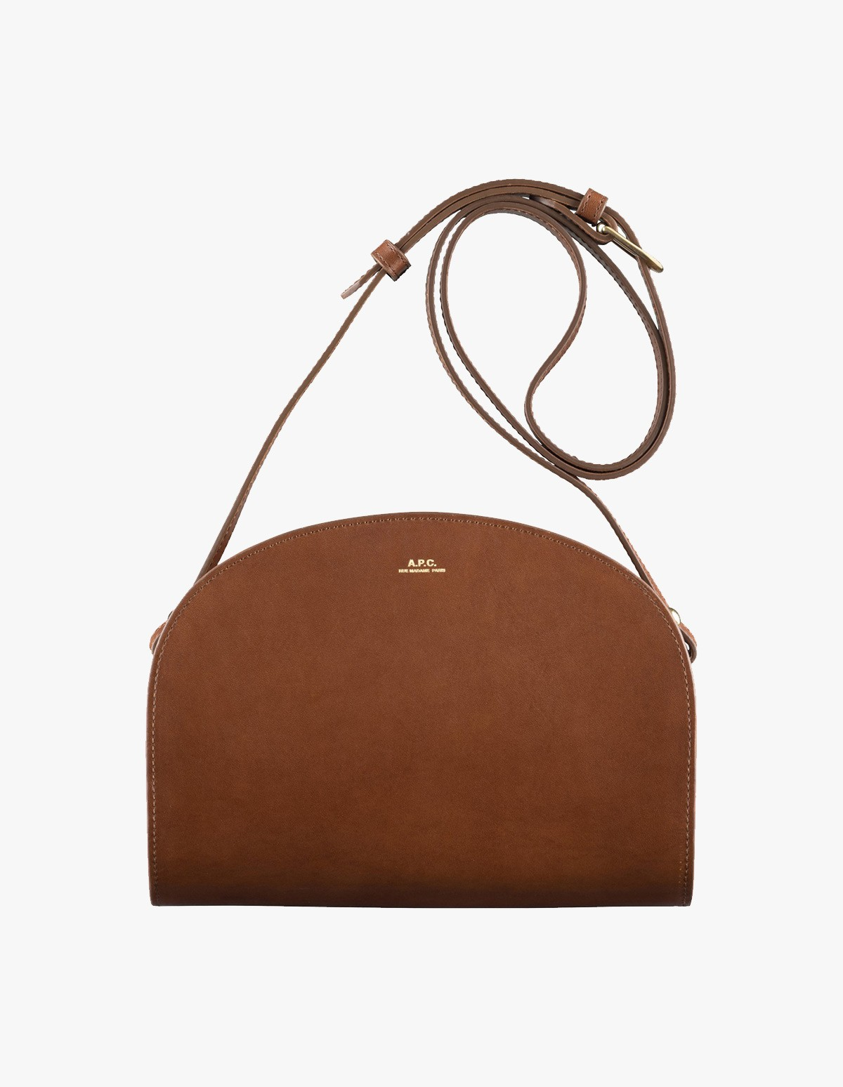 A.P.C. Sac Demi-Lune in Noisette