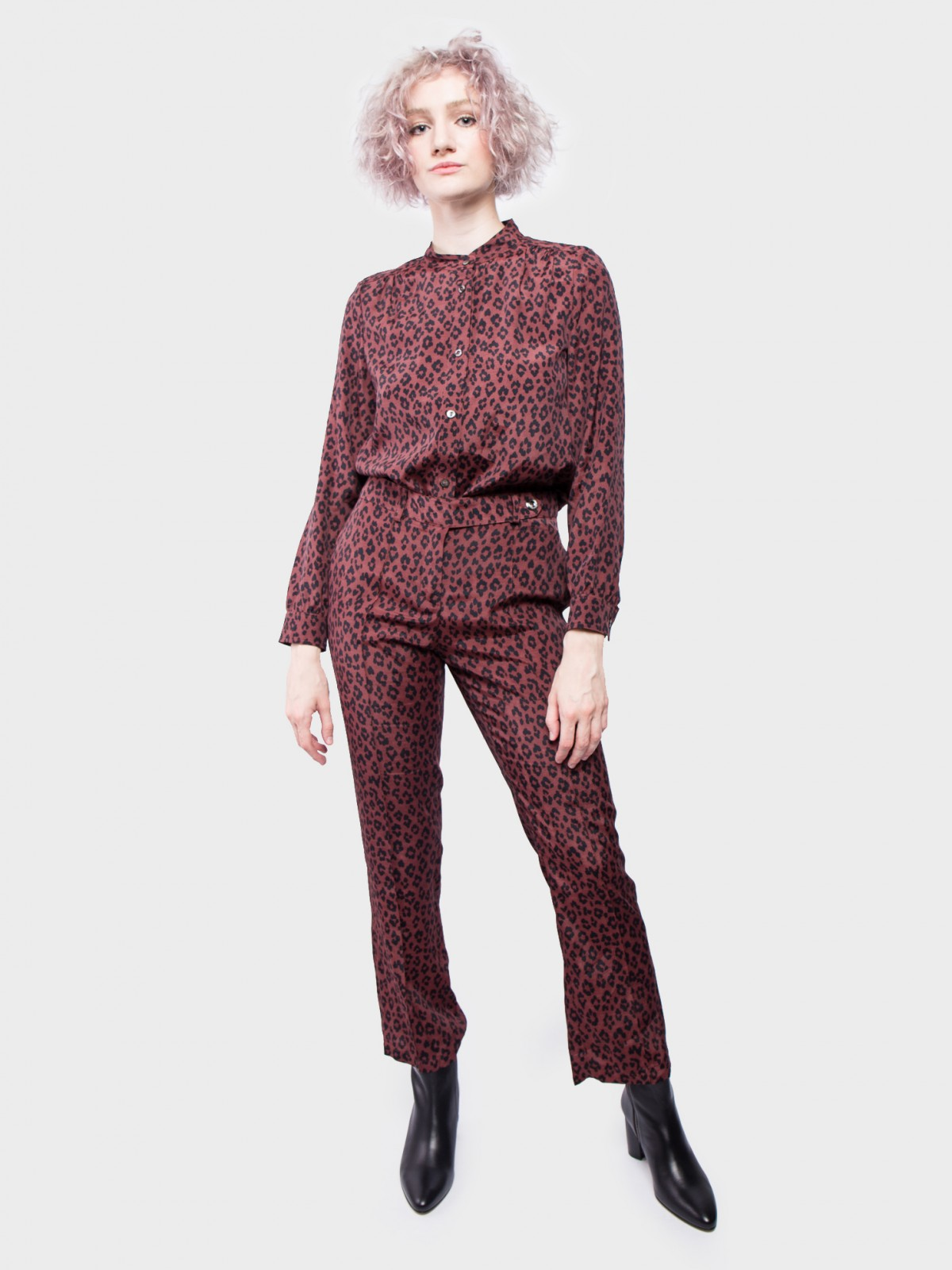 A.P.C. Pantalon Joy in Maroon