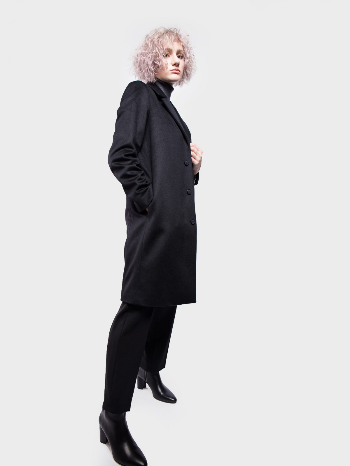 A.P.C. Manteau Ariane  in Black