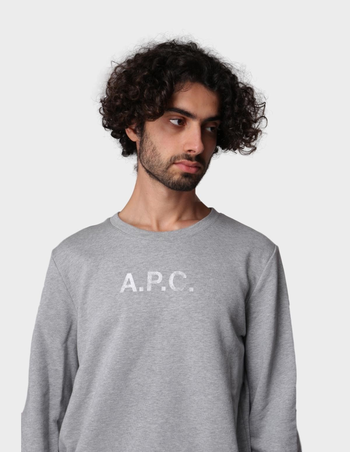 A.P.C. Sweat Stamp H in Gris Chine