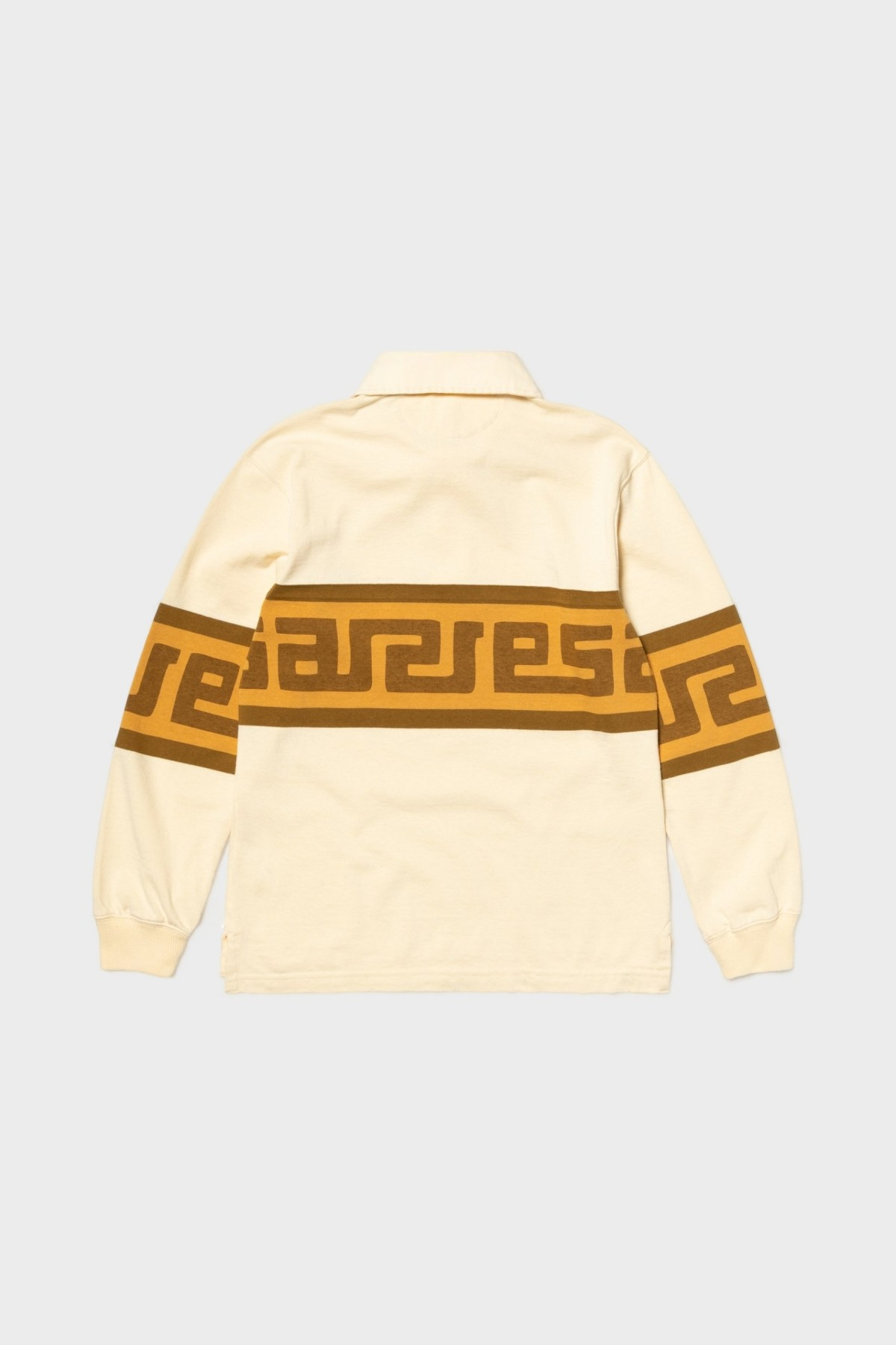 Aries Arise Meandros Rugby Shirt in Beige