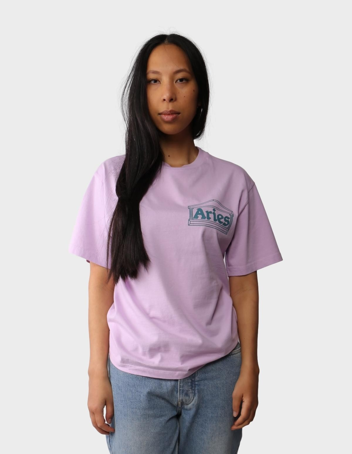 Aries Arise Classic Temple SS T-Shirt in Pink