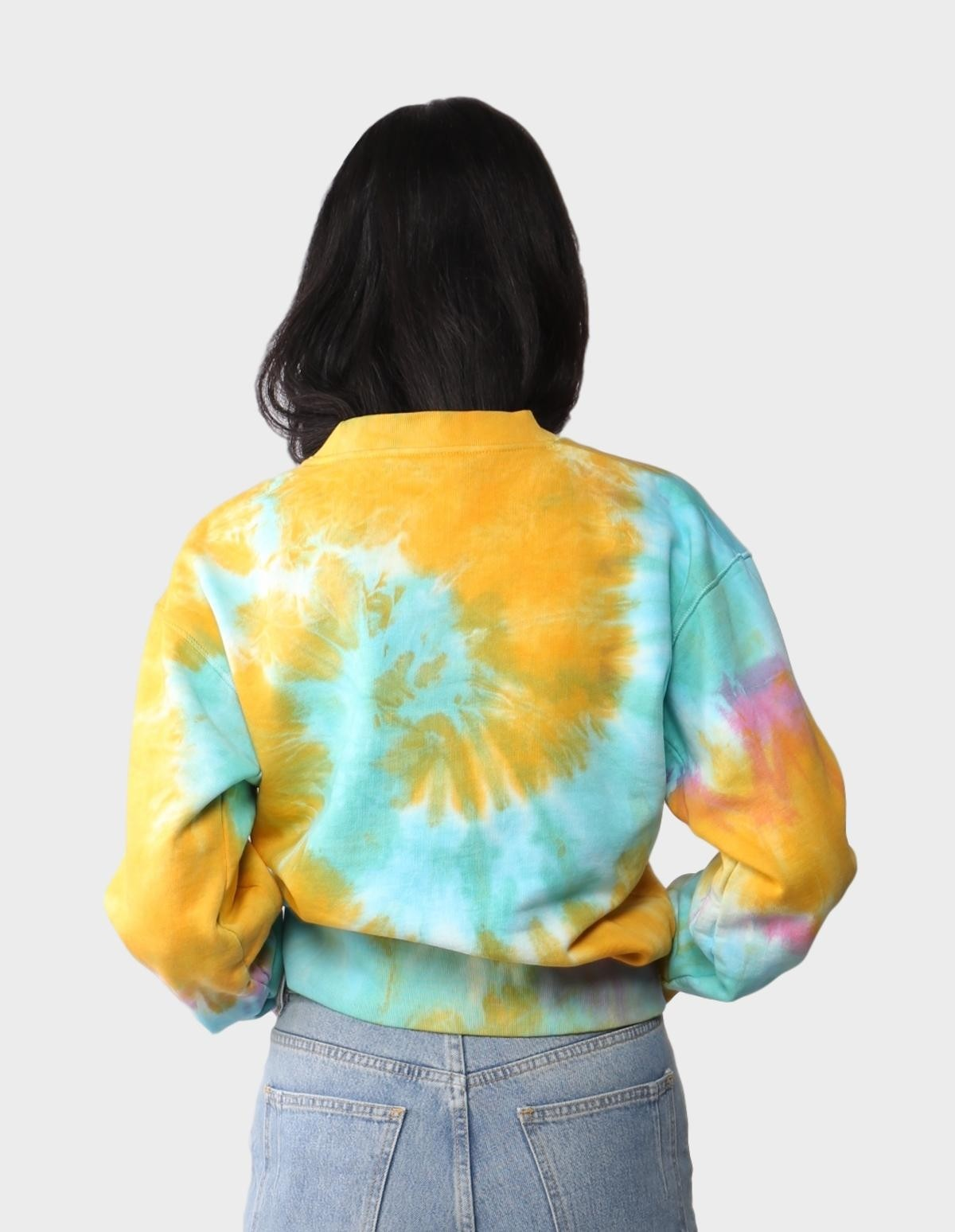 Aries Arise No Problemo Tie Dye Sweater in Multi