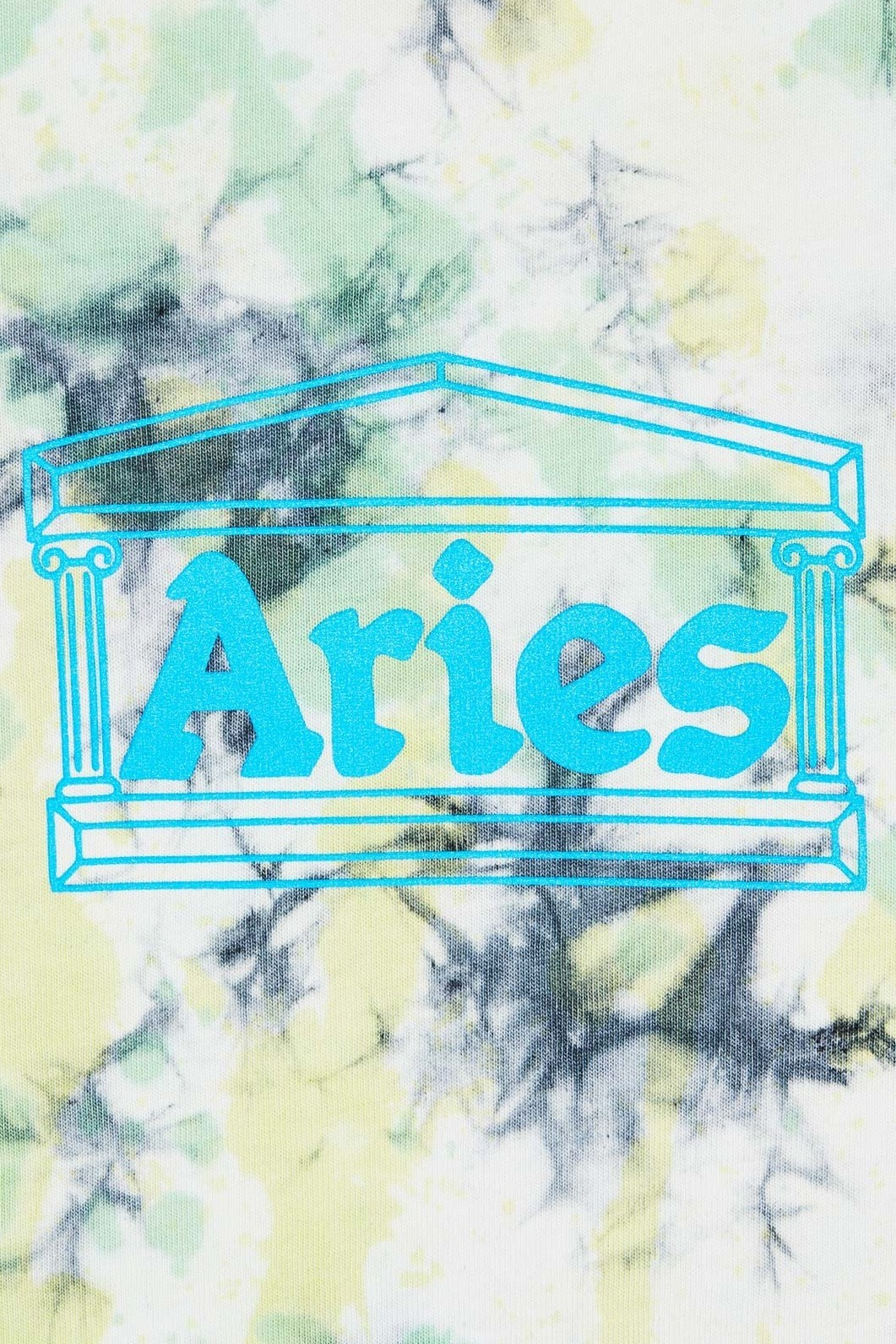 Aries Arise Temple Tie Dye Tee LS in Green