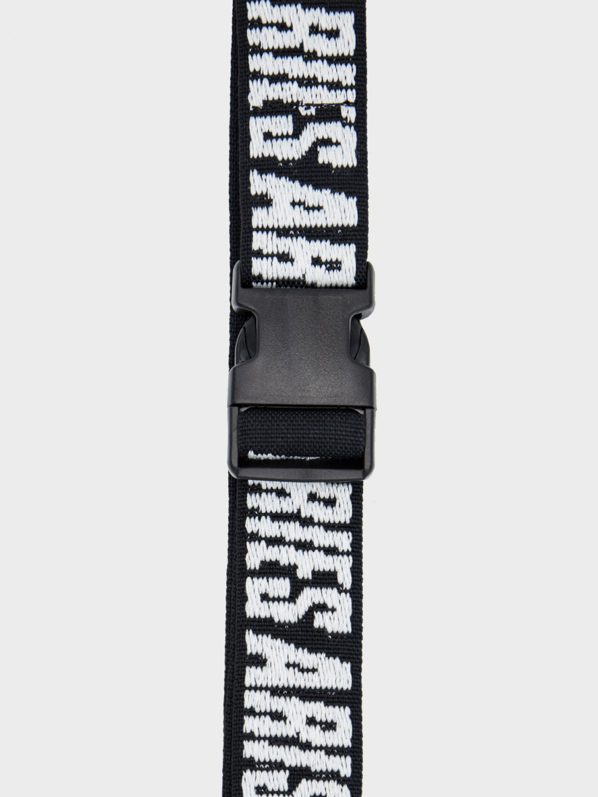 Aries Arise Logo Webbing Belt in Black