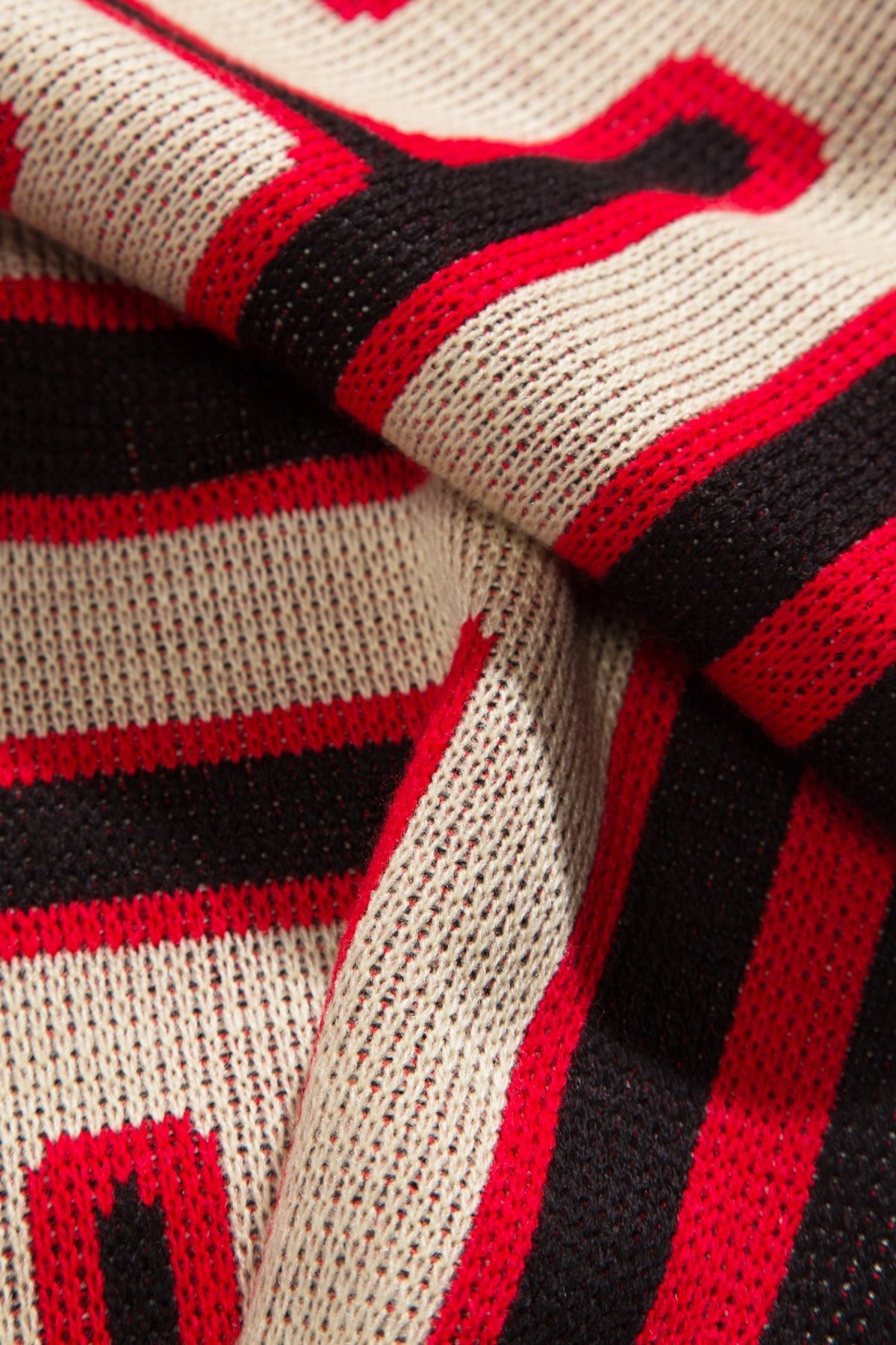 Aries Arise Meandros Scarf in Black Red