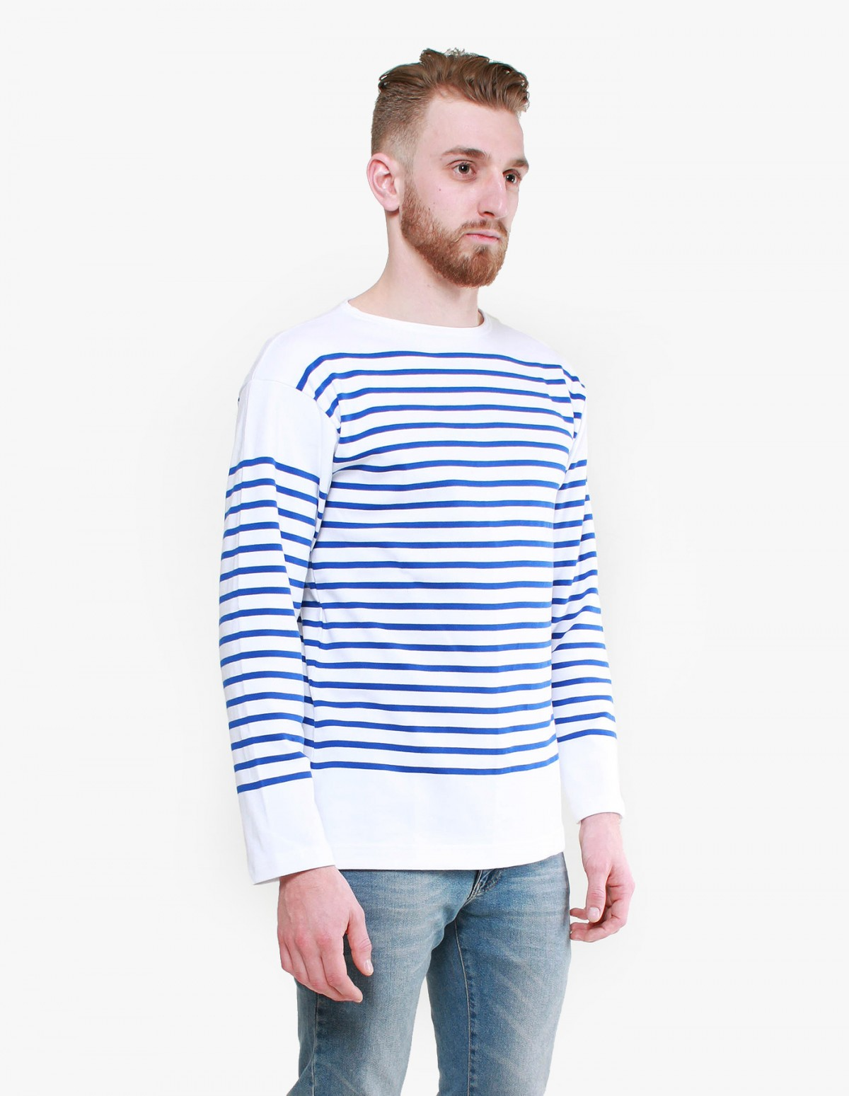 Armor Lux Admiral Long Sleeve in White / Blue