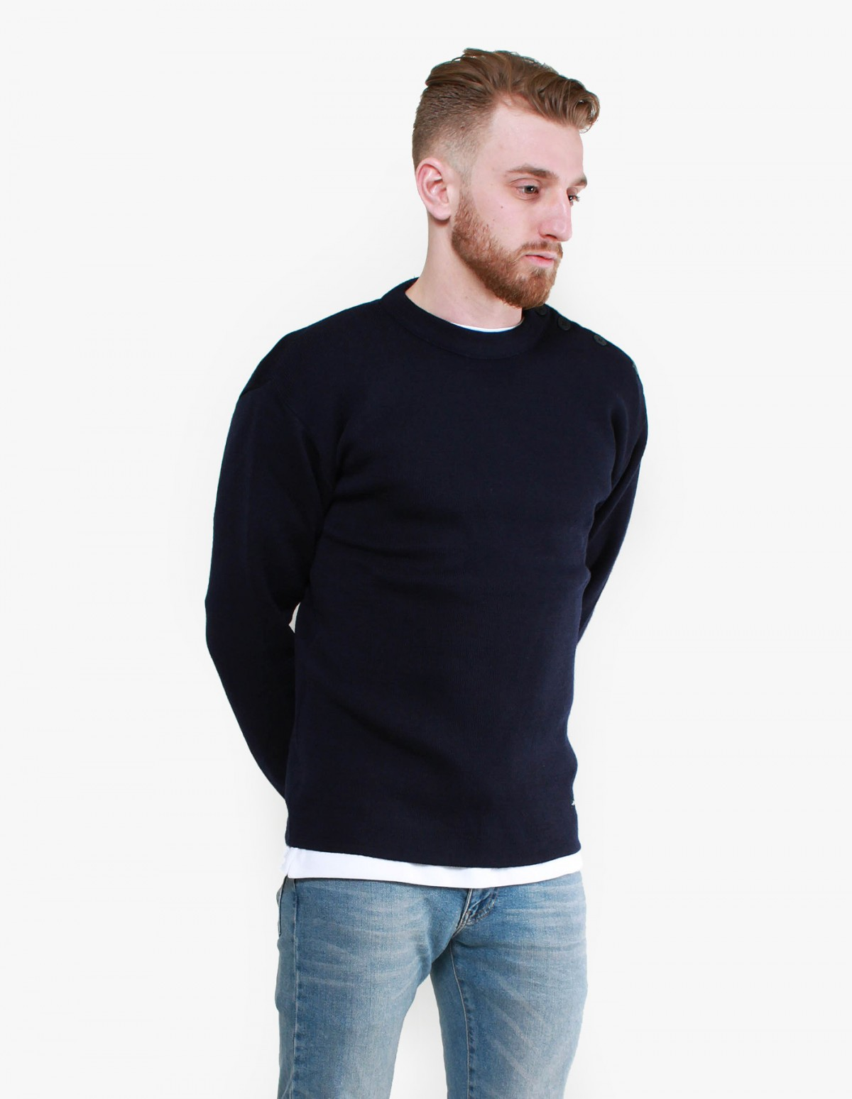 809da85657 Armor Lux Fouesnant Knit in Navy Armor Lux Fouesnant Knit in Navy ...