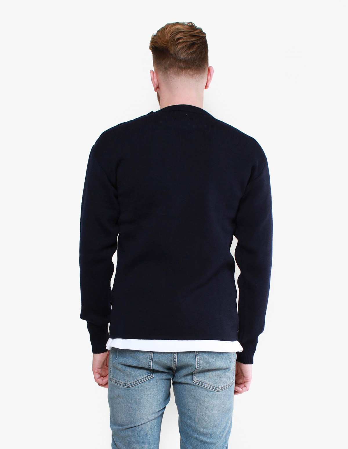 Armor Lux Fouesnant Knit in Navy
