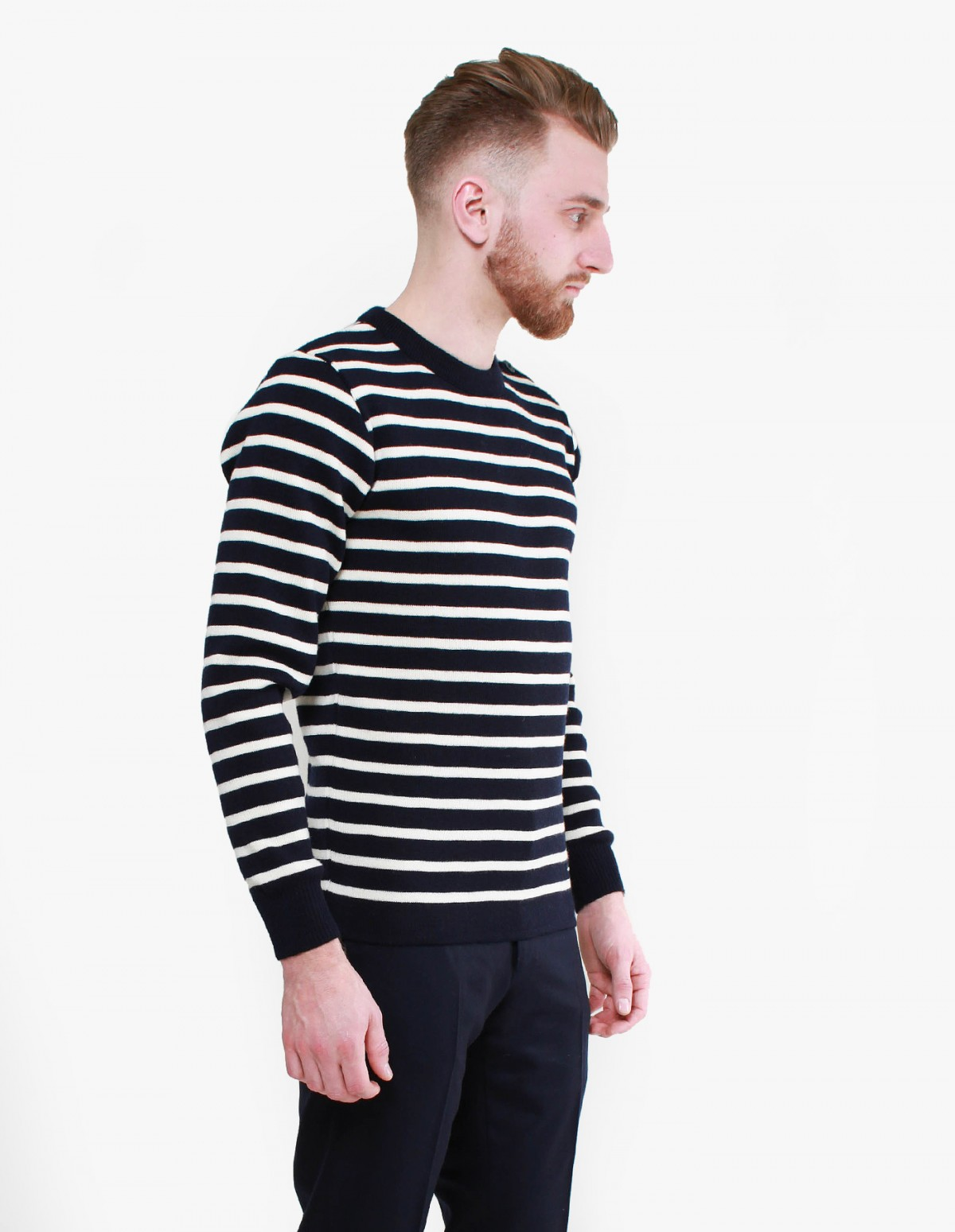 Armor Lux Fouesnant Knit in Navy / Natural