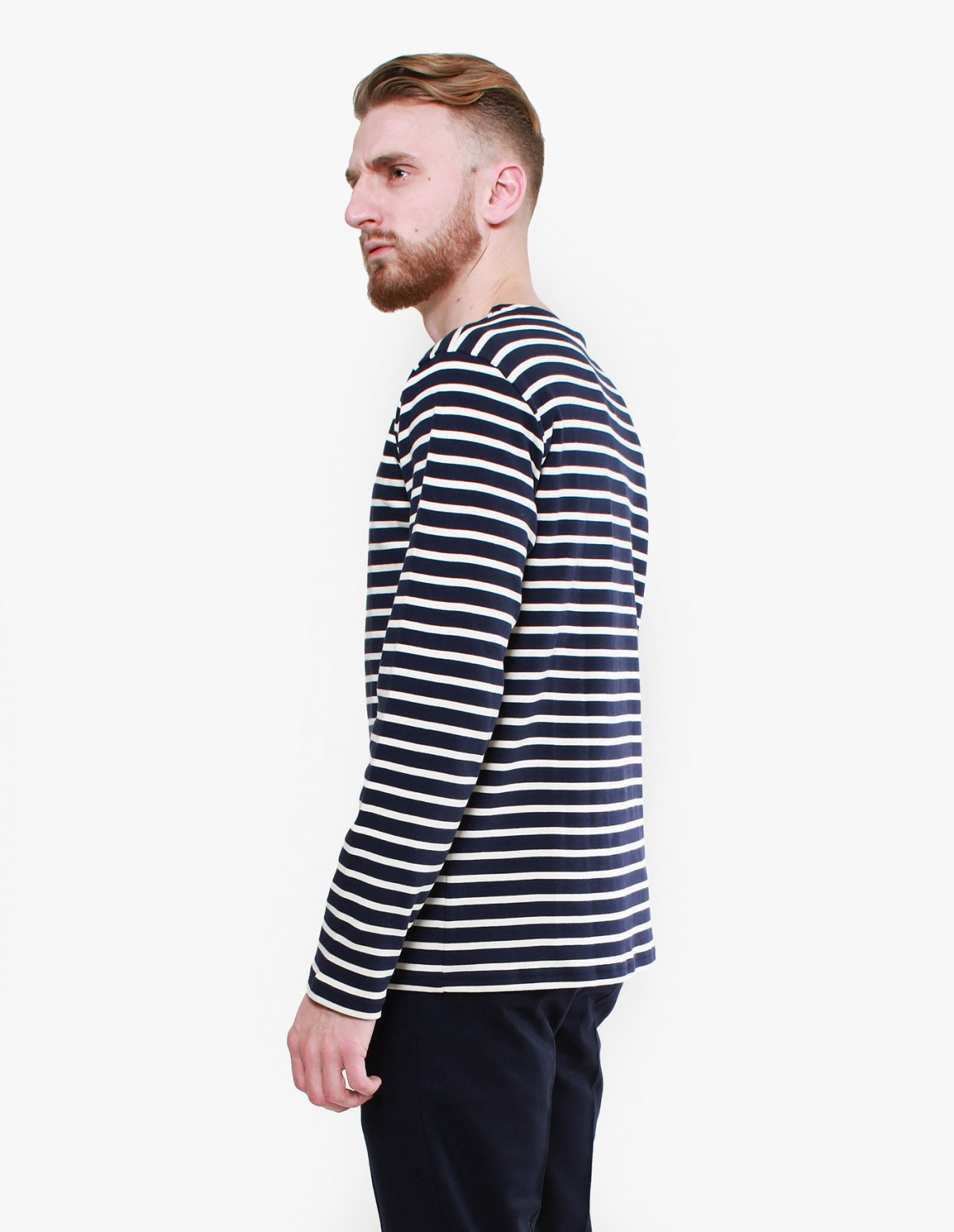 Armor Lux Marinière Long Sleeve in Navy / Natural