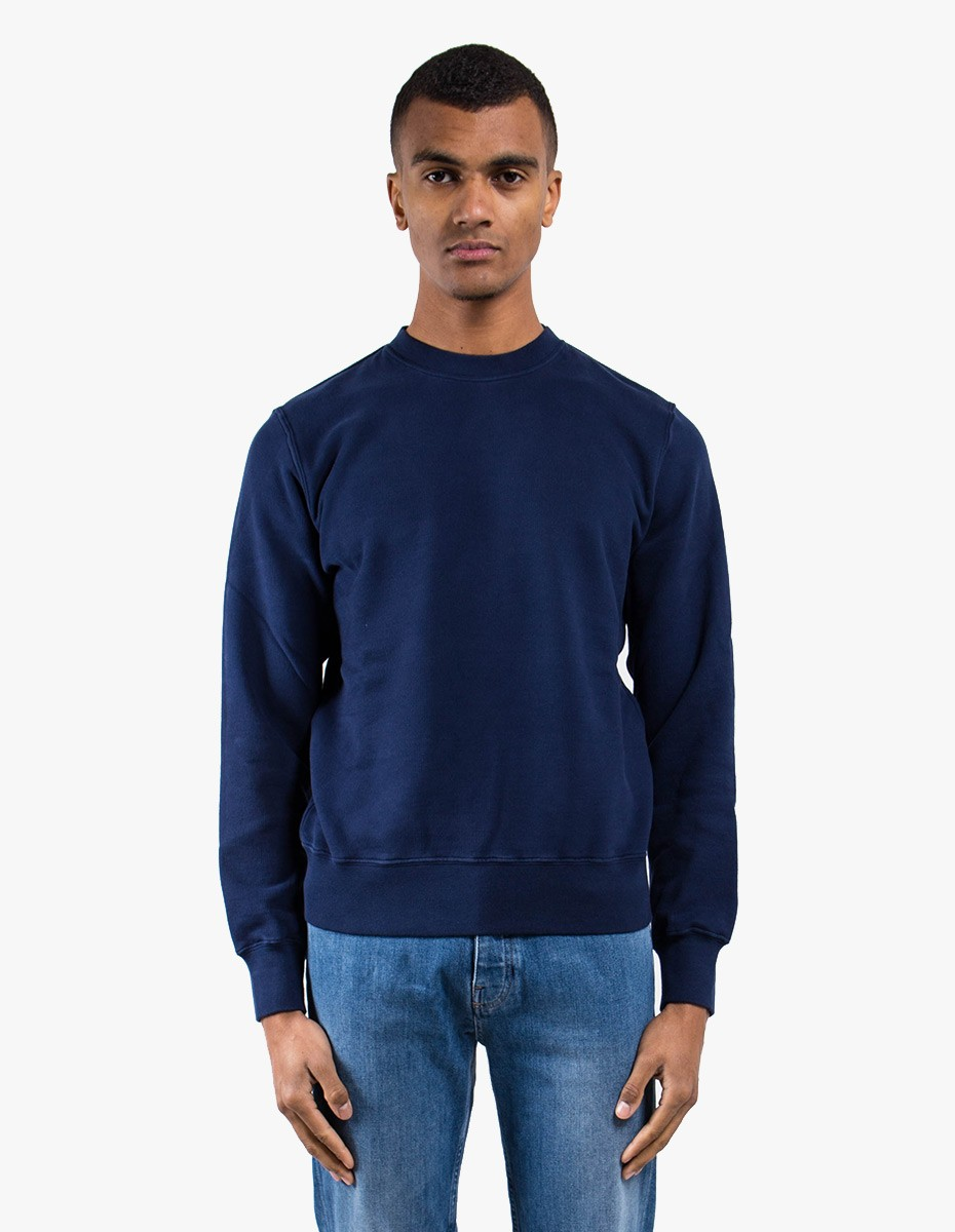 Aspesi AY61 Basic Cotton Sweat in Navy