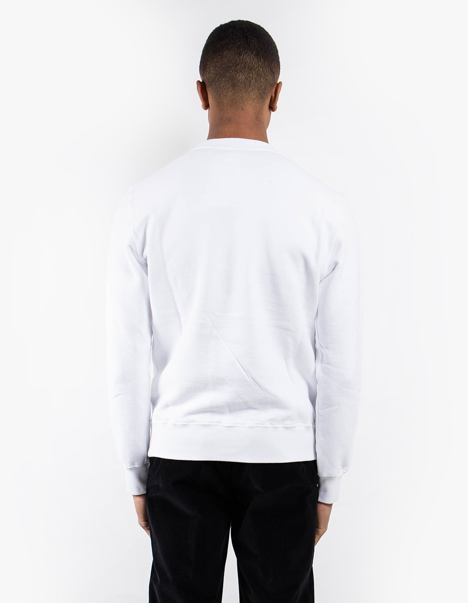 Aspesi AY61 Basic Cotton Sweat in White