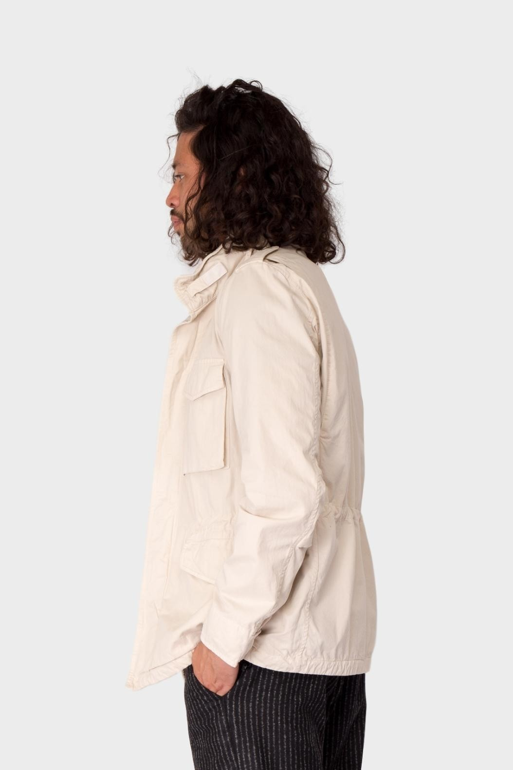 Aspesi Field Jacket Stone Washed in Light Grey
