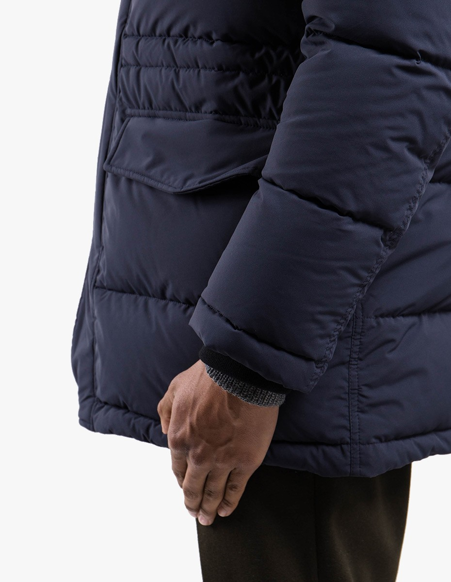 Aspesi 4I01 Polare Hooded Down Jacket in Navy