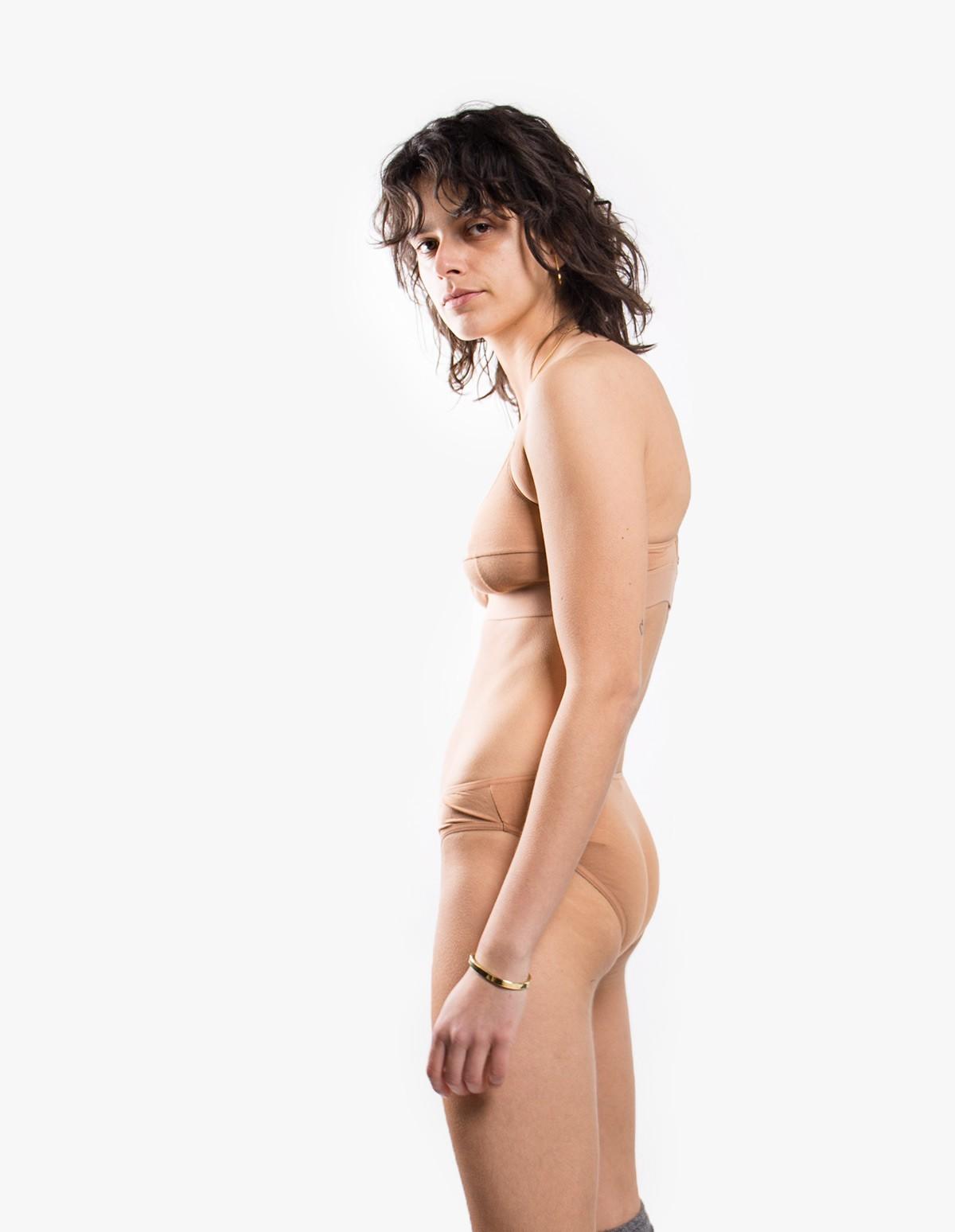 Baserange Bell Pants in Nude 3