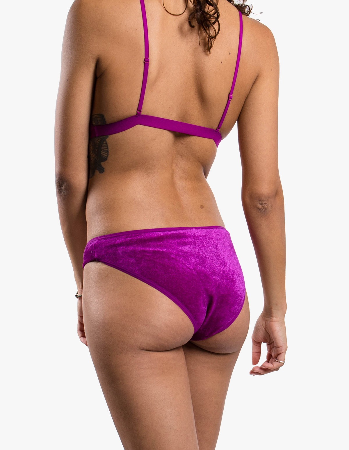 Baserange Mississipi Bra Velours in Ulna Purple