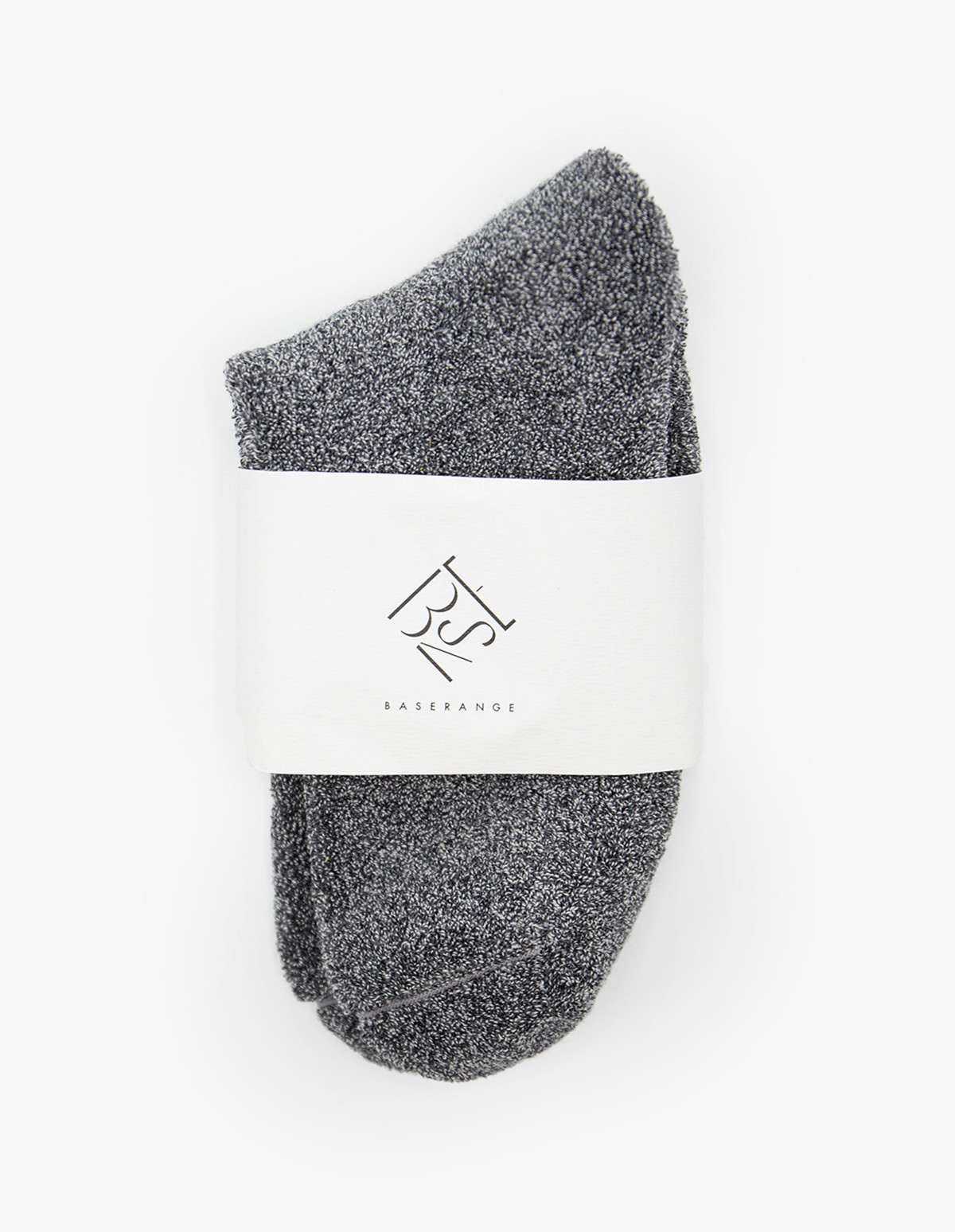 Baserange Buckle Ankle Socks in Grey Melange