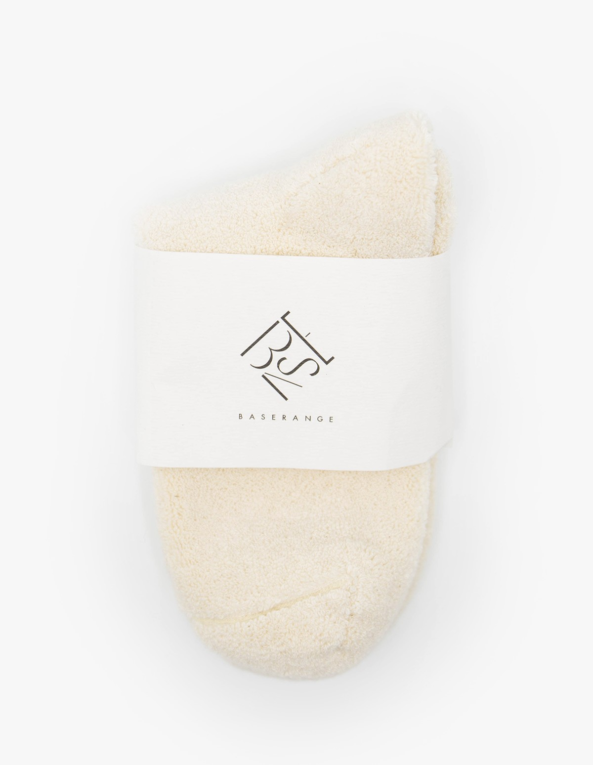 Baserange Buckle Ankle Socks in Off White
