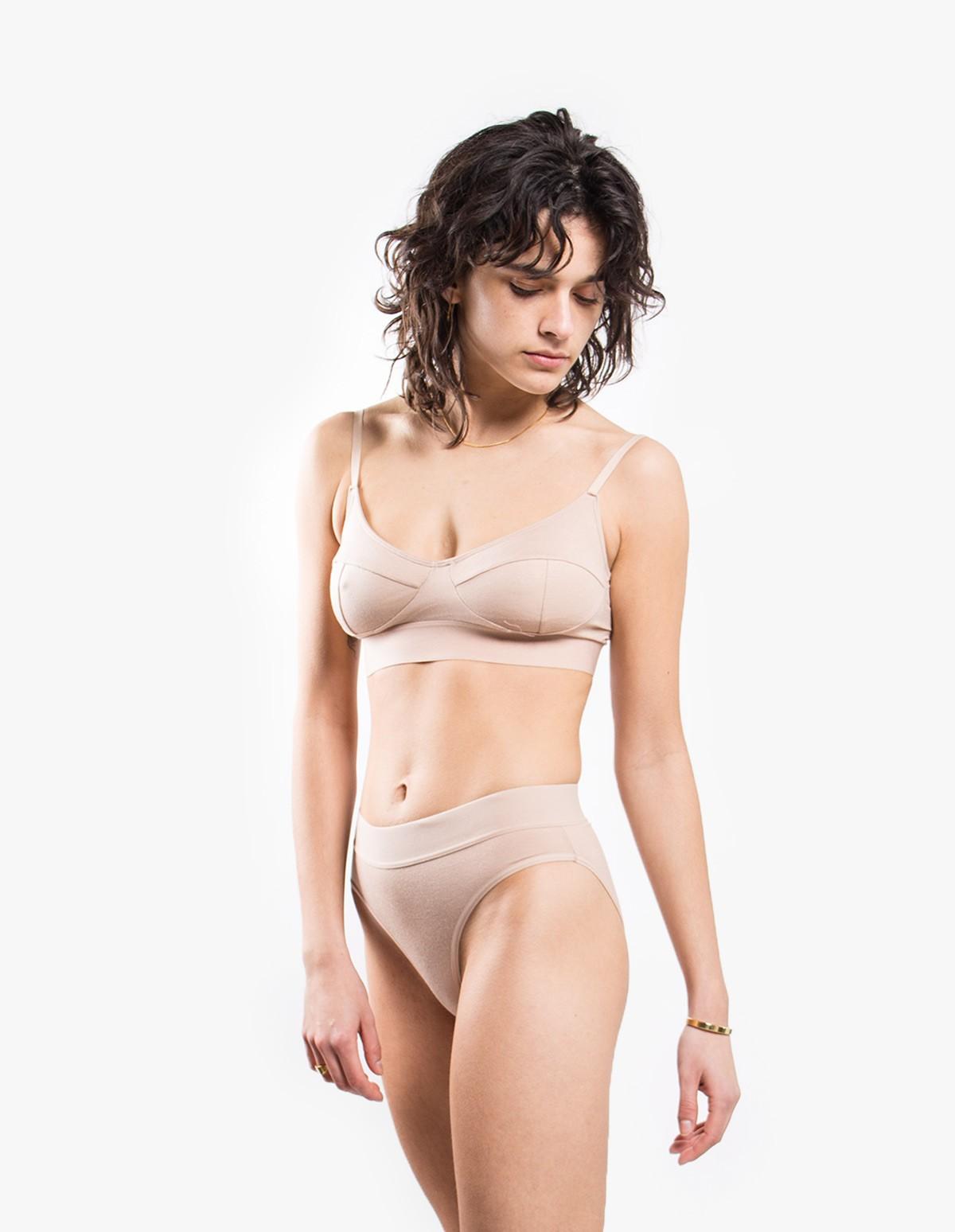 Baserange Elastic Bell Pants in Nude