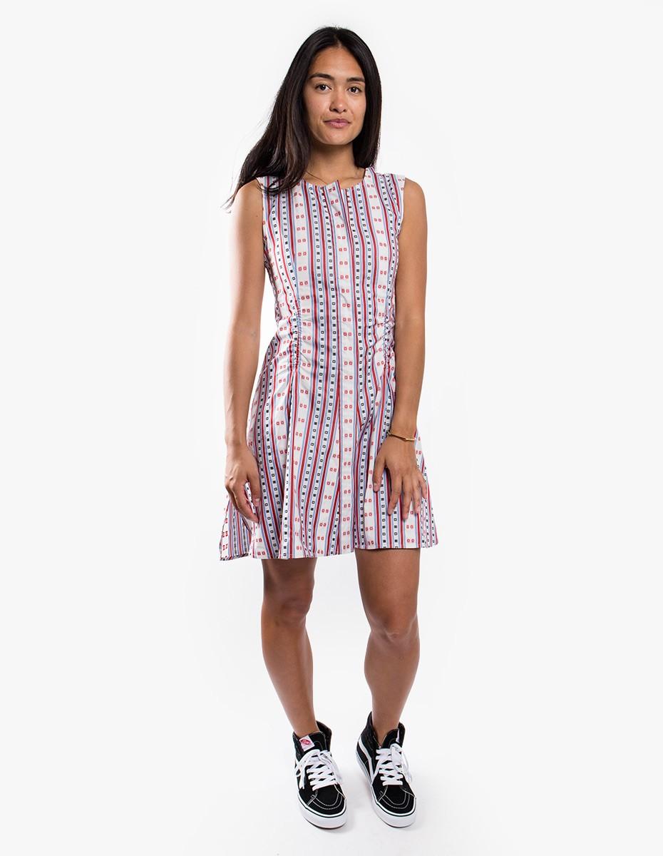Carven Twist Open-Back Dress in Multicolor
