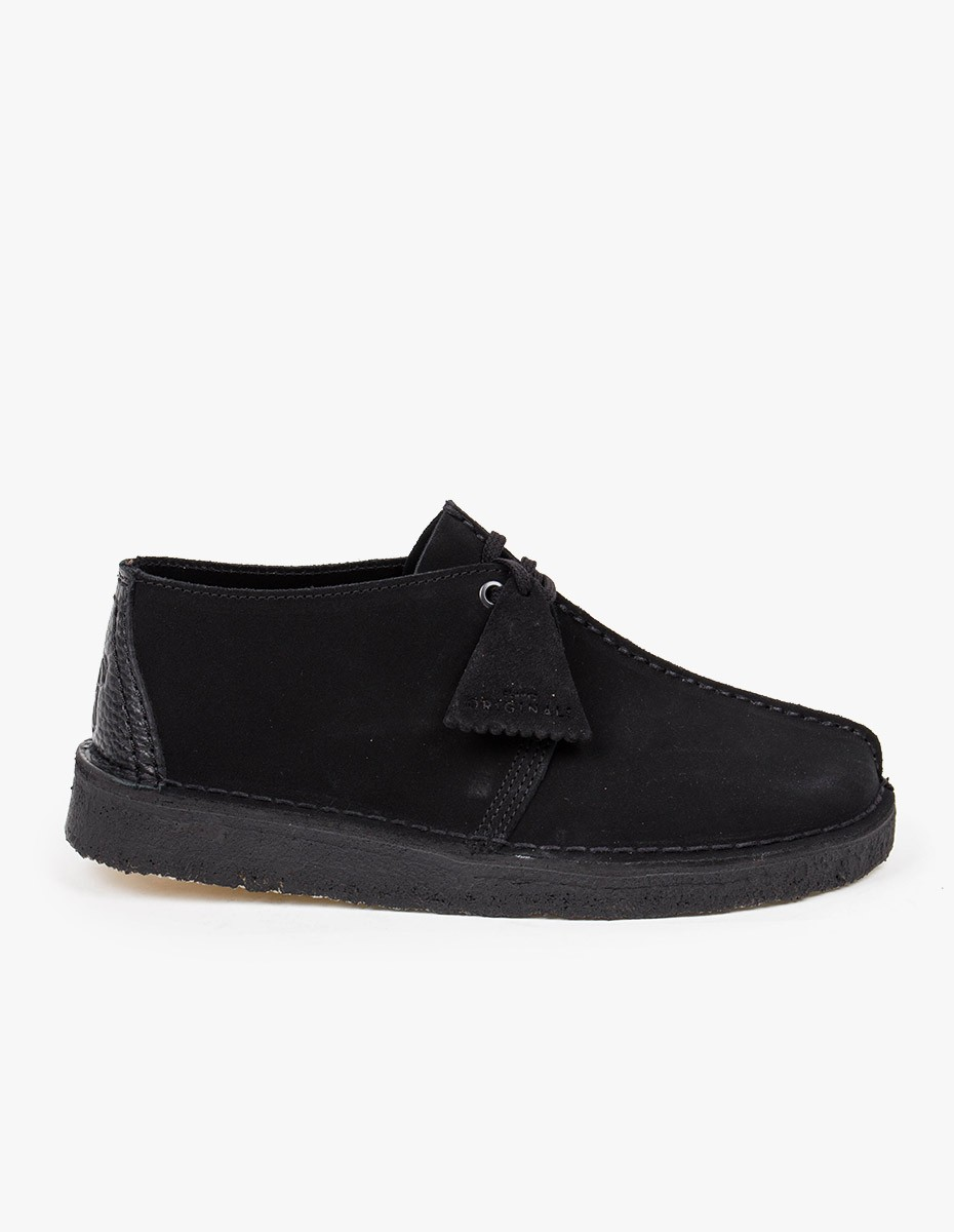 Clarks Originals Desert Trek in Black Suede