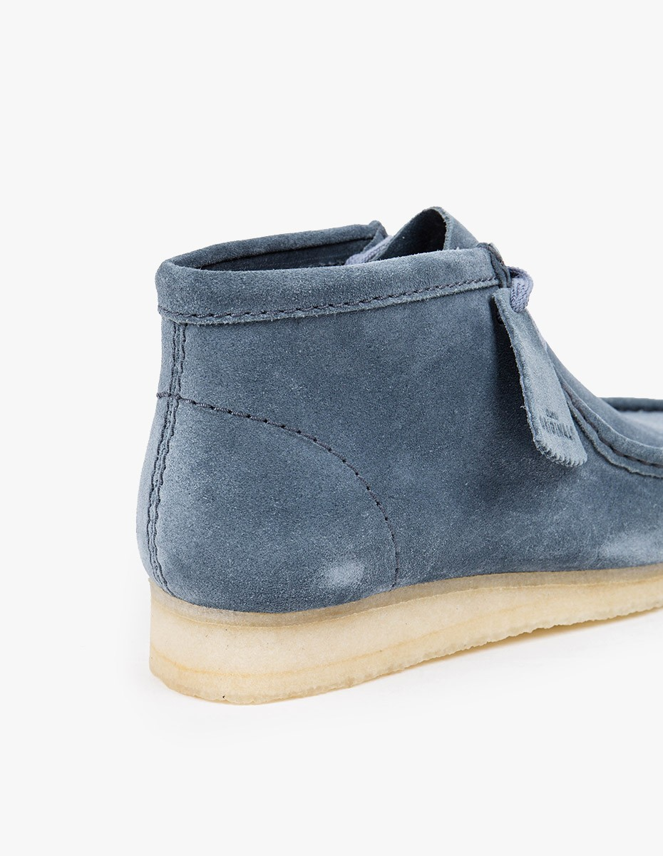 Clarks Originals Wallabee Boot in Slate Blue Suede