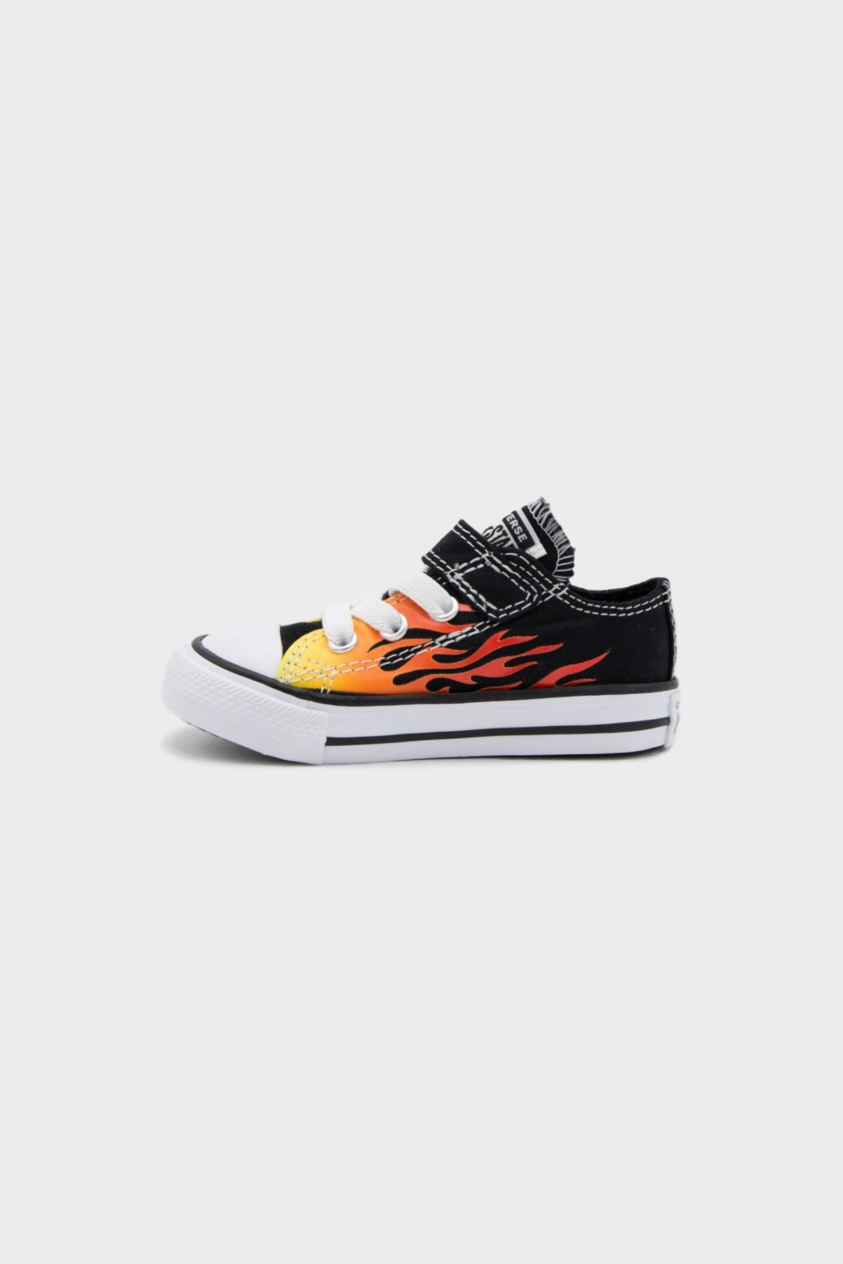 Converse All Stars OX Infant in Black Enamel