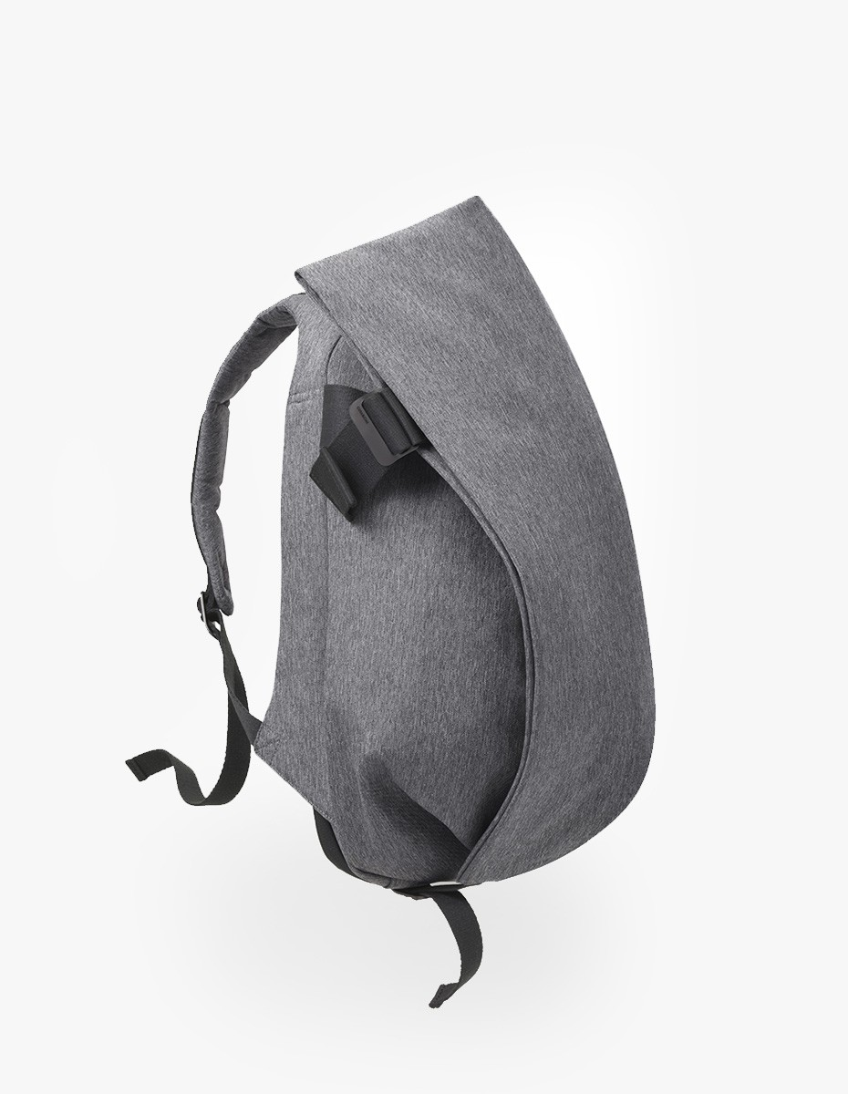 Cote & Ciel Isar Medium Rucksack in Black Melange Eco Yarn